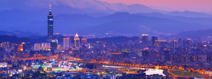 Taipei, Taiwan famed cityscape.